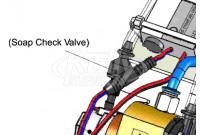 Intersan SPCHV-B Black Check Valve For No-Touch Soap Systems