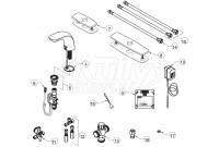 Zurn Z6956-XL-CV Cumberland Faucet Parts Breakdown