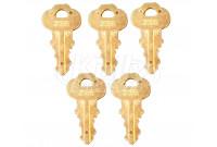 Bradley P15-398 Door Keys Service Pack 2055 (5-Pack of P10-526 Keys)