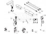 Zurn Z6953-XL-CV Camaya Faucet Parts Breakdown