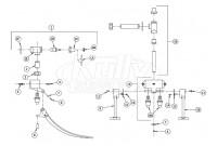 Zurn Z85500-VC-WM Double Foot Pedal Valve Parts Breakdown