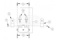 Zurn Z85500 Double Foot Pedal Valve Parts Breakdown
